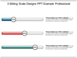 3 Sliding Scale Designs Ppt Examples Professional