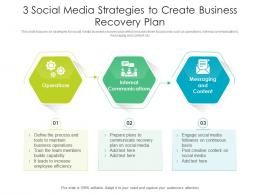 3 Social Media Strategies To Create Business Recovery Plan