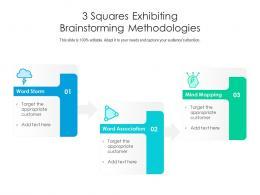 3 Squares Exhibiting Brainstorming Methodologies