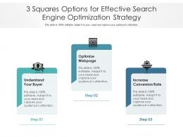 3 Squares Options For Effective Search Engine Optimization Strategy