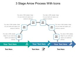 3 Stage Arrow Process With Icons