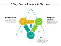 3 Stage Banking Triangle With Globe Icon