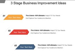 3 Stage Business Improvement Ideas Example Of Ppt