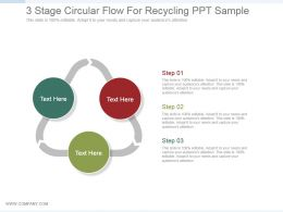 3 Stage Circular Flow For Recycling Ppt Sample