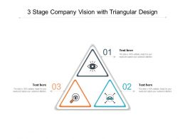 3 Stage Company Vision With Triangular Design