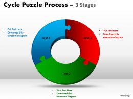 3 Stage Cycle Diagram Puzzle Process Powerpoint Slides And ppt Templates 0412