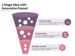 3 Stage Idea With Innovation Funnel