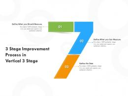 3 Stage Improvement Process In Vertical 3 Stage