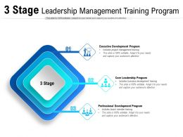 3 Stage Leadership Management Training Program