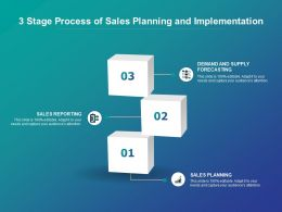3 Stage Process Of Sales Planning And Implementation