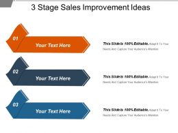3 Stage Sales Improvement Ideas Sample Of Ppt