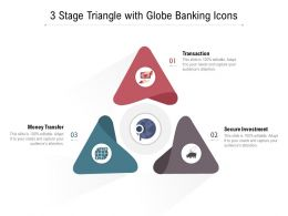 3 Stage Triangle With Globe Banking Icons
