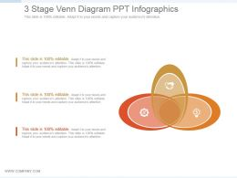 3 Stage Venn Diagram Ppt Infographics