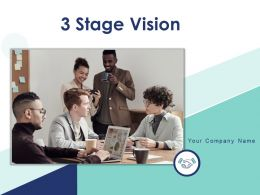 3 Stage Vision Business Success Arrow Organization Financial