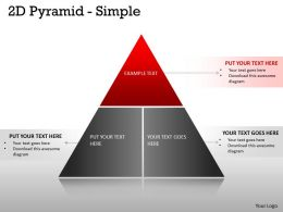 3 Staged 2D Pyramid Diagram