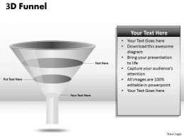 3 Staged 3D Funnel Diagram