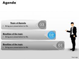 3 Staged Business Agenda Diagram 0214