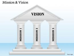 3 Staged Mission And Vision Diagram 0114