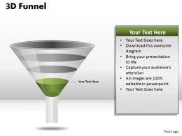 3 Staged Result Funnel Diagram