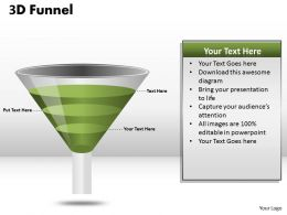 3 Staged Sales Funnel Diagram