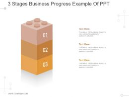 3 Stages Business Progress Example Of Ppt