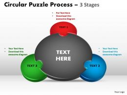 3 Stages Circular diagram ppt Templates 1
