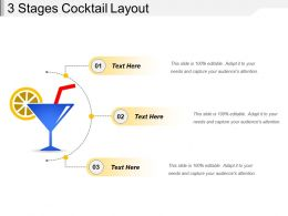 3 Stages Cocktail Layout