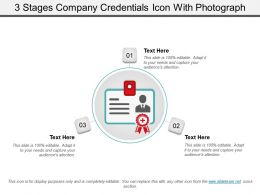 3 Stages Company Credentials Icon With Photograph