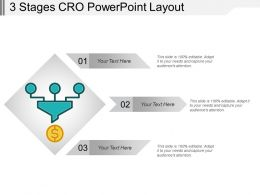 3 Stages Cro Powerpoint Layout