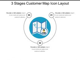 3 Stages Customer Map Icon Layout