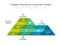 3 Stages Depicted By Conjoined Triangle