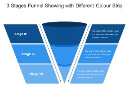 3 Stages Funnel Showing With Different Colour Strip