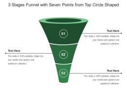 3 Stages Funnel With Seven Points From Top Circle Shaped