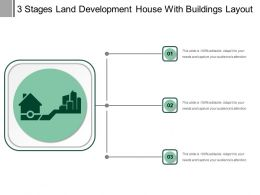 3 Stages Land Development House With Buildings Layout
