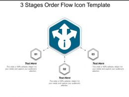 3 Stages Order Flow Icon Template