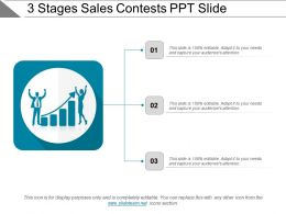 3 Stages Sales Contests Ppt Slide