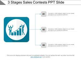 3 Stages Sales Contests Ppt Slide