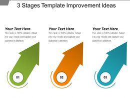 3 Stages Template Improvement Ideas Sample Of Ppt Presentation