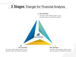3 Stages Triangle For Financial Analysis