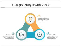 3 Stages Triangle With Circle