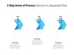 3 Step Arrow Of Process Chevron In Sequential Flow