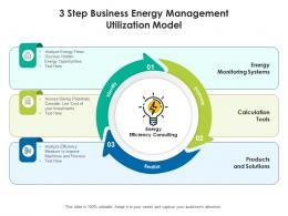 3 Step Business Energy Management Utilization Model