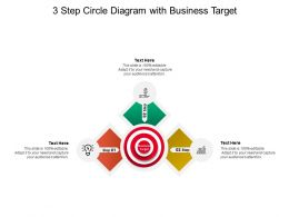 3 Step Circle Diagram With Business Target