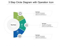 3 Step Circle Diagram With Operation Icon