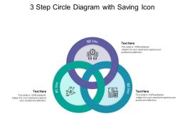 3 Step Circle Diagram With Saving Icon
