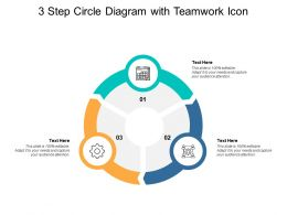 3 Step Circle Diagram With Teamwork Icon