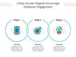 3 Step Circular Diagram Encourage Employee Engagement Infographic Template