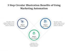 3 Step Circular Illustration Benefits Of Using Marketing Automation Infographic Template
