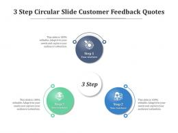 3 Step Circular Slide Customer Feedback Quotes Infographic Template