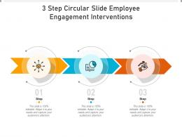 3 Step Circular Slide Employee Engagement Interventions Infographic Template